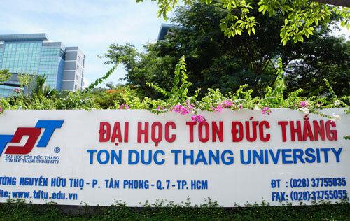Đại học Tôn Đức Thắng có trụ sở ở quận 7, TP HCM. Ảnh: Mạnh Tùng