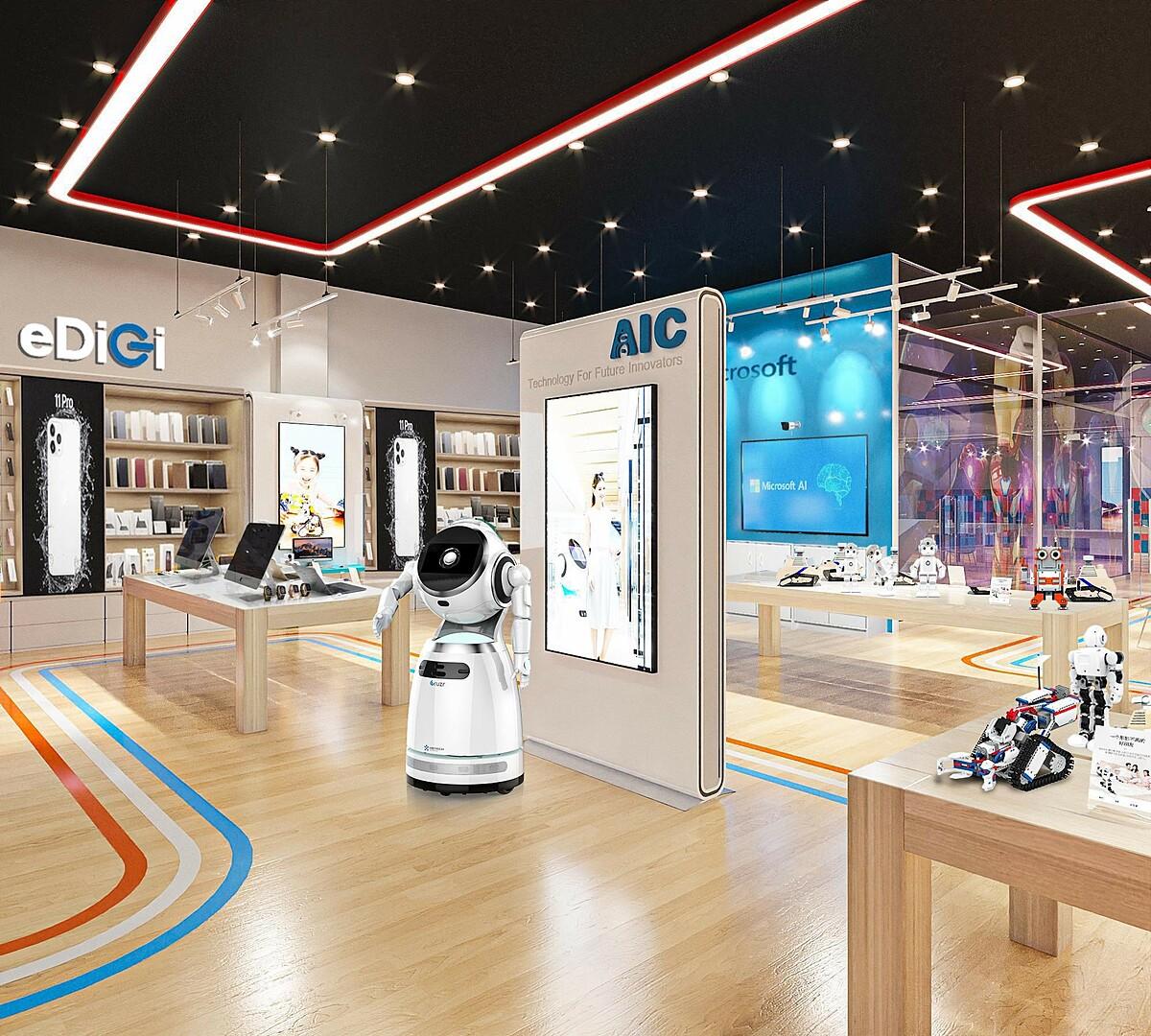 Ngoài là nơi tổ chức triển lãm, hội thảo, trung tâm AIC còn trưng bày nhiều mô hình robot, sản phẩm công nghệ trí tuệ nhân tạo... cho sinh viên và những người đam mê công nghệ đến thưởng thức, chiêm ngưỡng. Ảnh phối cảnh.