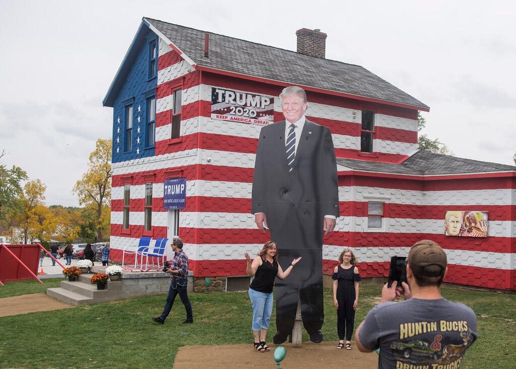 Nhà Trump tại thành phố Latrobe, bang Pennsylvania, Mỹ. Ảnh: NY Times.