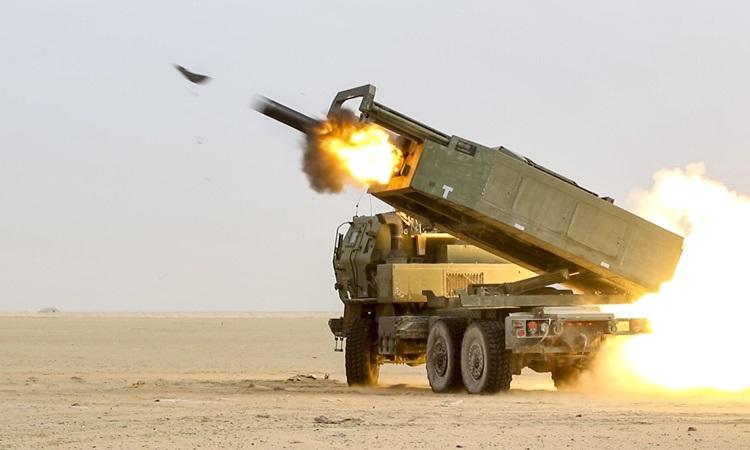 Hệ thống Tên lửa Pháo binh Cơ động Cao do Lockheed Martin sản xuất. Ảnh: US Army.