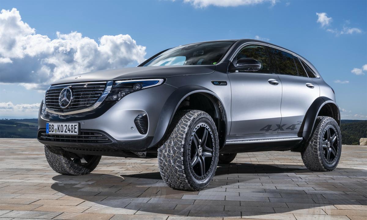 EQC 4x4 sở hữu khả năng vượt địa hình vượt trội nhờ những tinh chỉnh đặc biệt, như hệ thống treo đặc trưng của dòng off-road. Ảnh: Mercedes