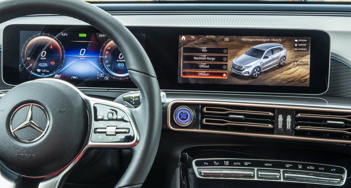 EQC 4x4 có cùng hệ thống giải trí MBUX giống EQC 400. Ảnh: Mercedes