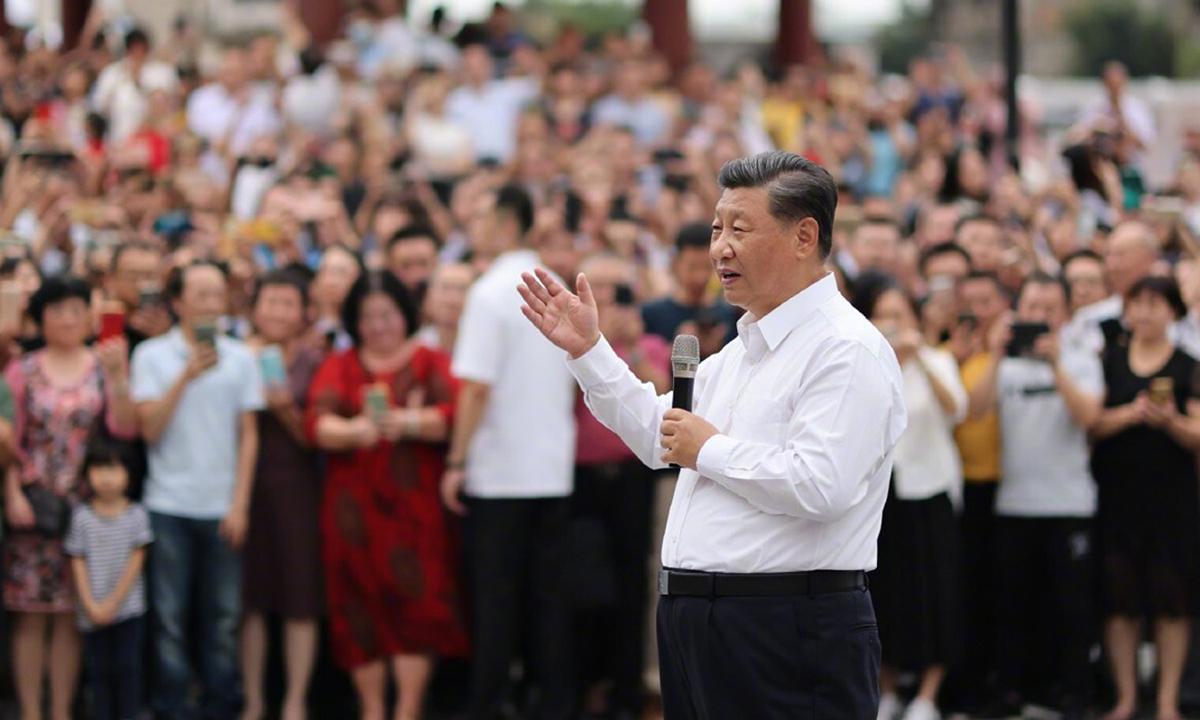 Chủ tịch Tập Cận Bình phát biểu trước người dân thành phố Sán Đầu, tỉnh Quảng Đông hôm 13/10. Ảnh: Xinhua.