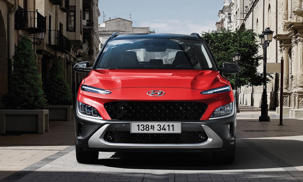 Kona bản nâng cấp giới thiệu tại Hàn Quốc. Ảnh: Hyundai