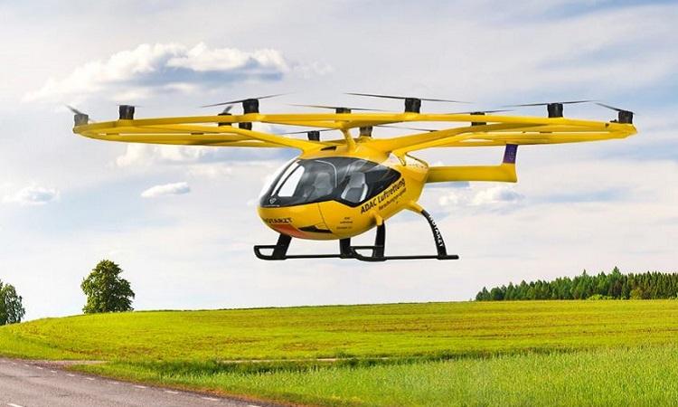 Mẫu taxi bay VoloCity sẽ tham gia thử nghiệm thực địa cấp cứu trên không vào năm 2023. Ảnh: ADAC.