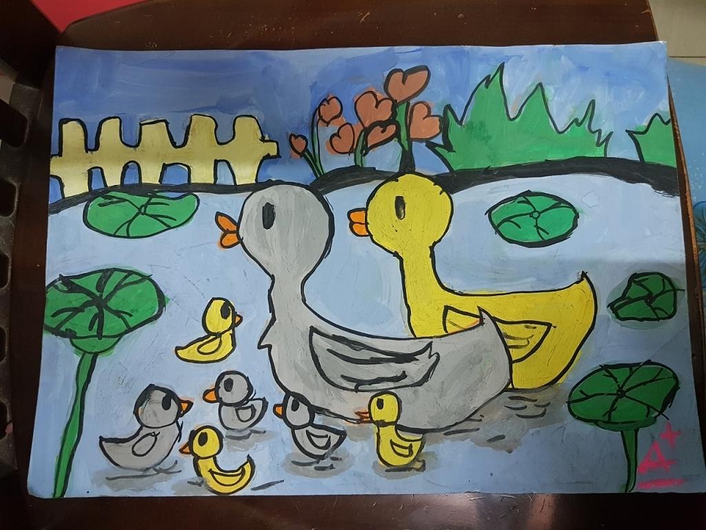 Bức tranh về gia đình vịt
