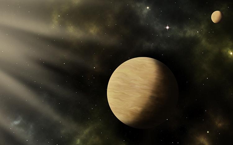 Mô phỏng hai ngoại hành tinh TOI-1266 b và c. Ảnh: Sci-News.