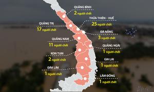 12 ngày mưa lũ hoành hành miền Trung
