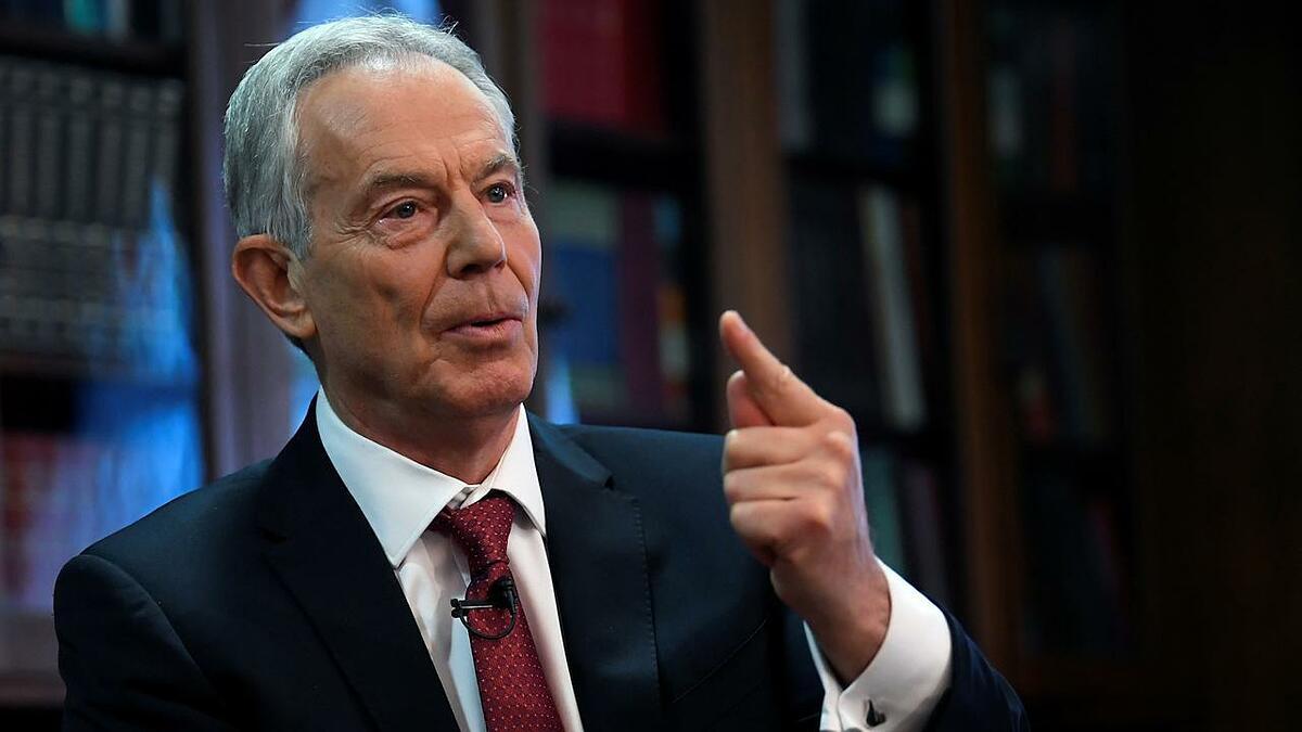 Cựu thủ tướng Anh Tony Blair tại London tháng 12/2019. Ảnh: Reuters.