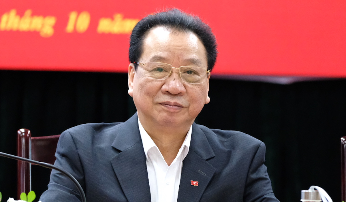 GS Phùng Hữu Phú - Phó chủ tịch thường trực Hội đồng Lý luận Trung ương. Ảnh: Hoàng Thùy