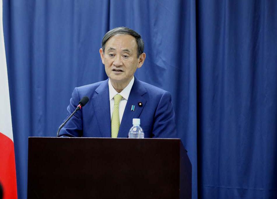 Thủ tướng Nhật Bản phát biểu tại trường Đại học Việt Nhật ngày 19/10. Ảnh: VNU