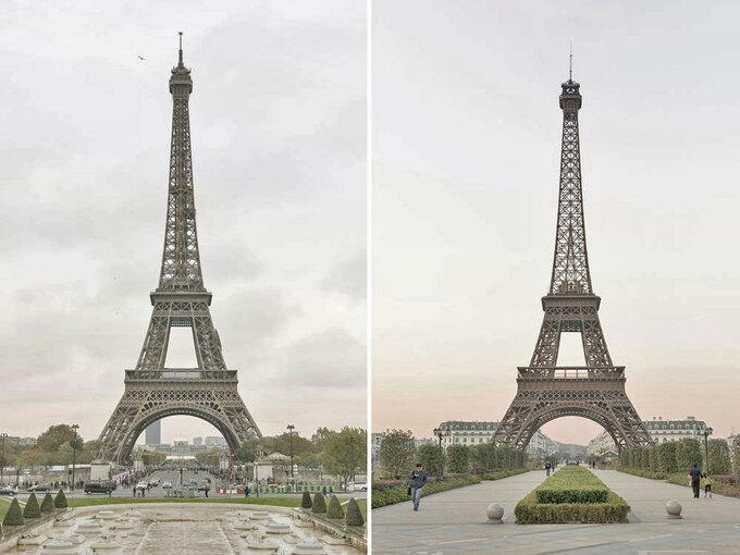 Đâu là tháp Eiffel nhái?