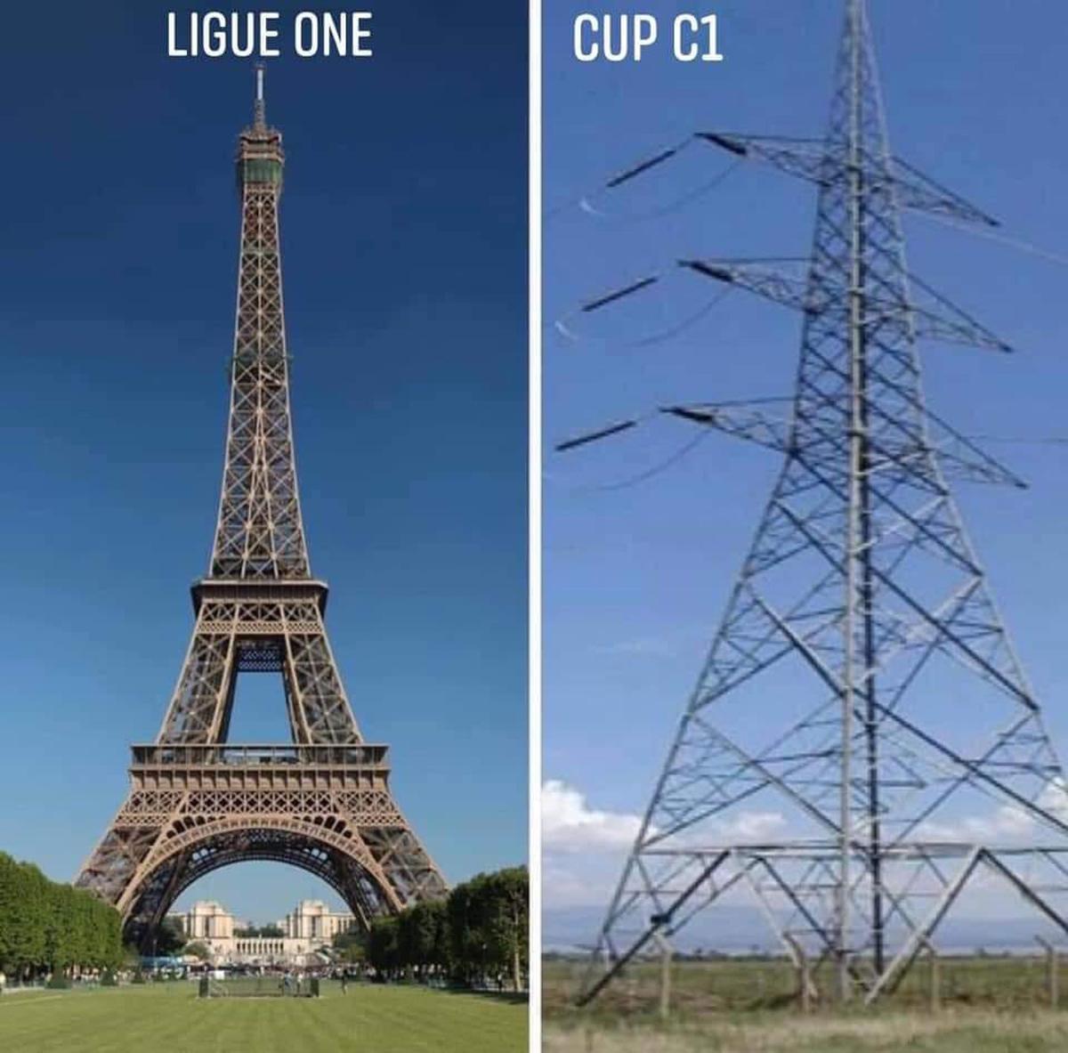 Hình ảnh trái ngược của PSG tại Ligue 1 và Cup C1.