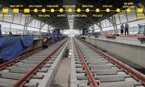 Metro Bến Thành - Suối Tiên sau 8 năm xây dựng