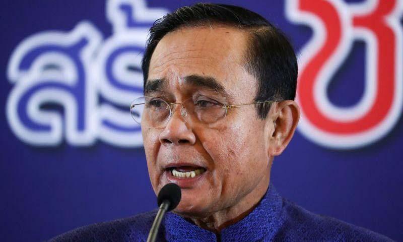 Thủ tướng Thái Lan Prayuth Chan-ocha phát biểu trước báo giới tại Bangkok hôm 22/9. Ảnh: Reuters.