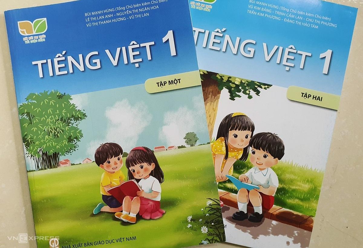 Sách Tiếng Việt 1, bộ Kế nối tri thức với cuộc sống. Ảnh: Thanh Hằng