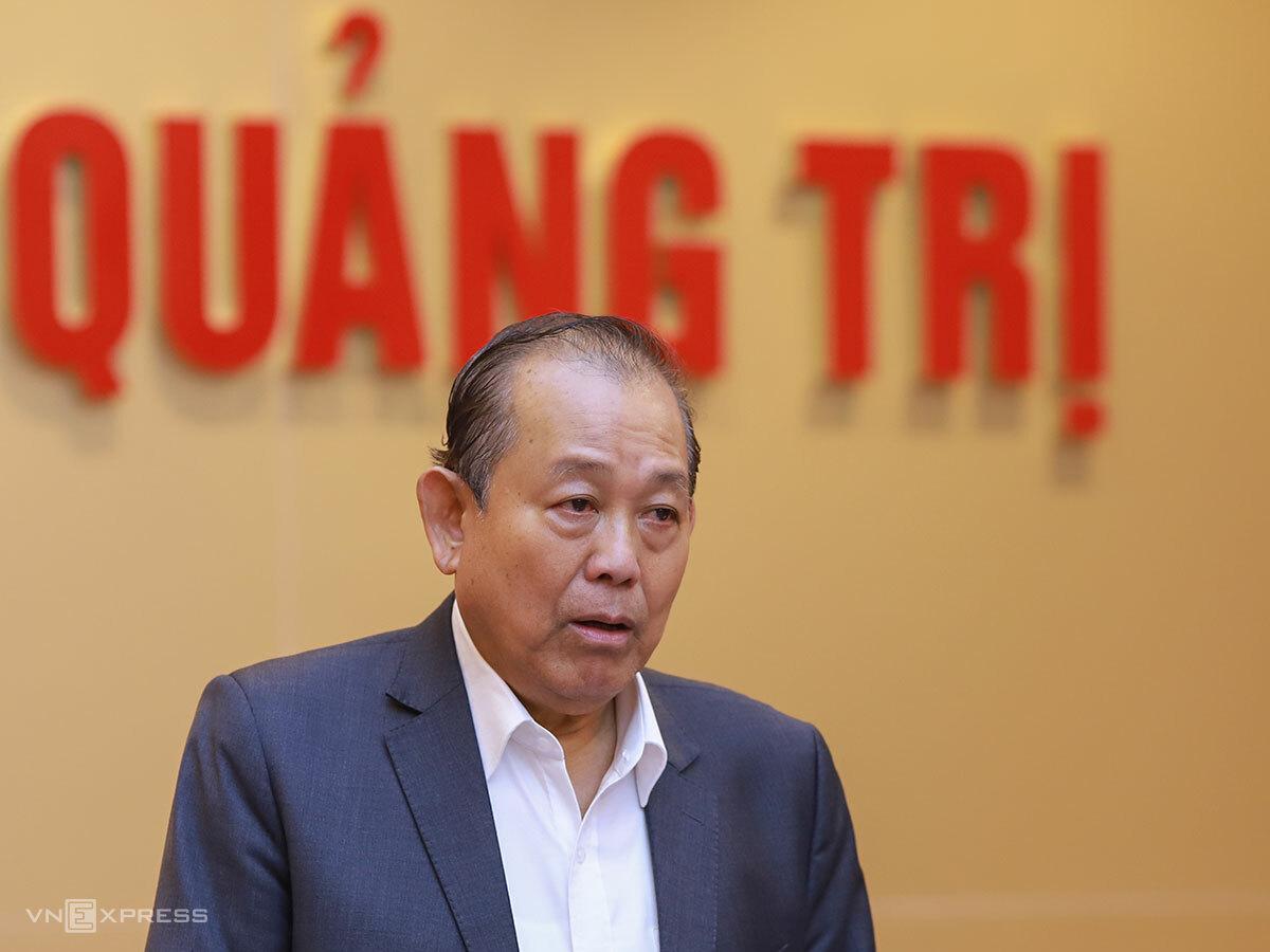 Phó thủ tướng Thường trực Trương Hoà Bình tại buổi làm việc. Ảnh: Nguyễn Đông.