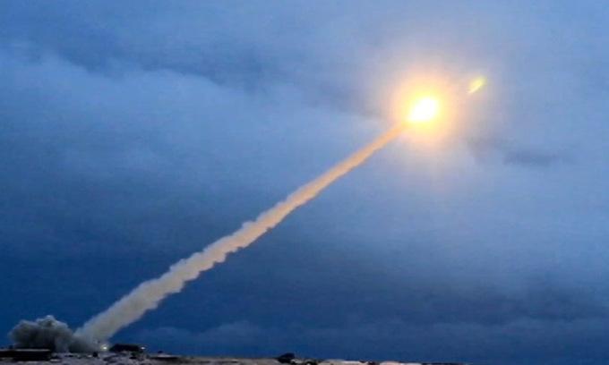 Tên lửa Burevestnik bắn thử năm 2018. Ảnh: Bộ Quốc phòng Nga.
