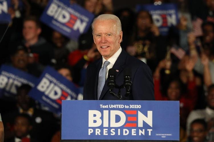 Joe Biden tại sự kiện vận động tranh cử ở Nam Carolina hồi cuối tháng hai. Ảnh: Reuters.