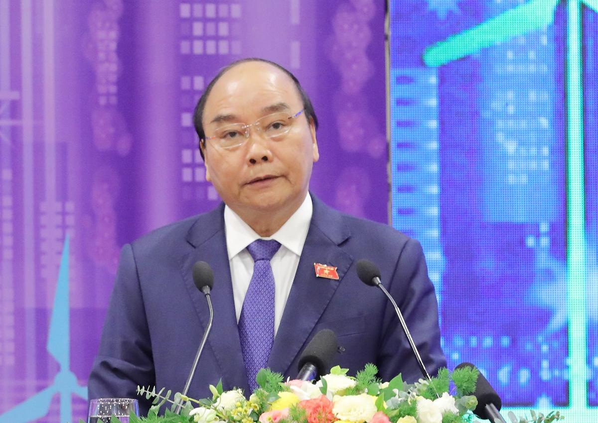 Thủ tướng Nguyễn Xuân Phúc phát biểu tại Diễn đàn đô thị thông minh ASEAN. Ảnh: Phương Linh.