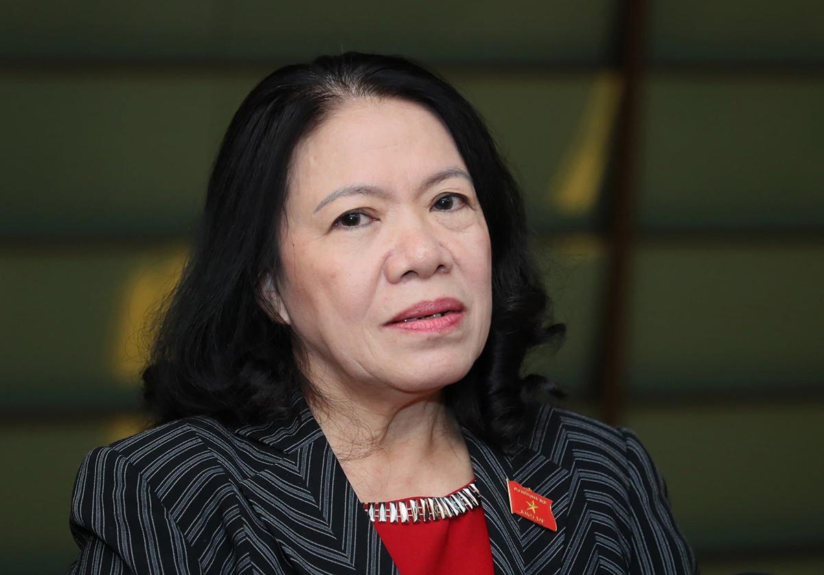 Bà Nguyễn Thị Xuân Thu, Chủ tịch Hội Chữ thập đỏ Việt Nam. Ảnh: Trần Thường