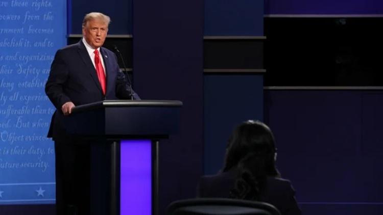 Tổng thống Mỹ khen ngợi cách Welker điều hành phiên tranh luận. Ảnh chụp màn hình: The Hill