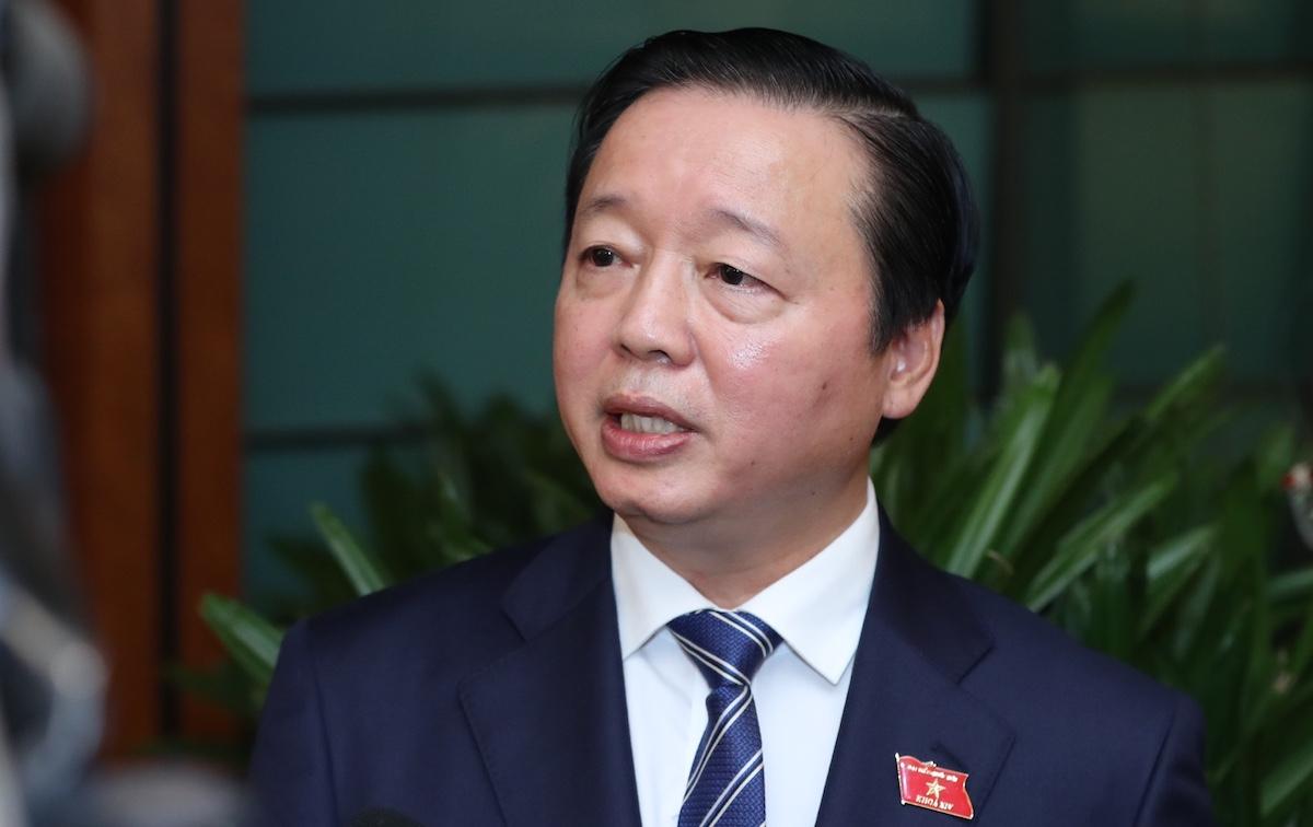 Bộ trưởng Tài nguyên Môi trường Trần Hồng Hà. Ảnh: Hoàng Phong