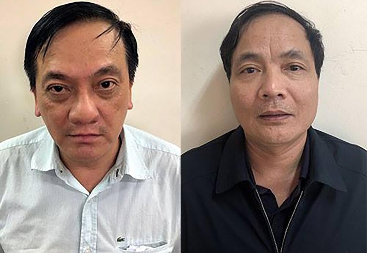 Bị can Trần Lục Lang (trái) và Kiều Đình Hoà. Ảnh: Bộ Công an.