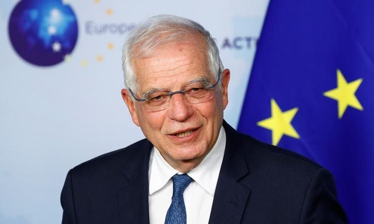 Đại diện cấp cao của Liên minh châu Âu (EU) về Chính sách Đối ngoại và An ninh Josep Borrell tại một cuộc họp báo ở Brussels, Bỉ, hồi tháng một. Ảnh: Reuters.