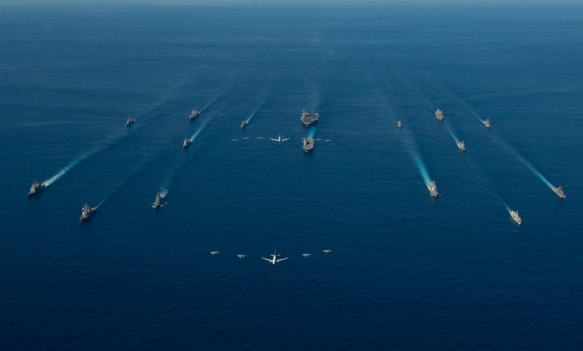 Lực lượng Mỹ - Nhật tham gia tập trận Keen Sword 21 hôm 26/10. Ảnh: US Navy.