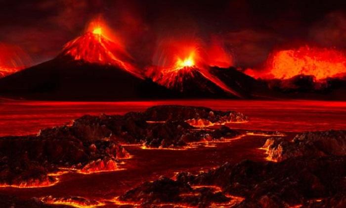 Mô phỏng khung cảnh trong sự kiện tuyệt chủng cuối kỷ Permi. Ảnh: José-Luis Olivares/MIT.
