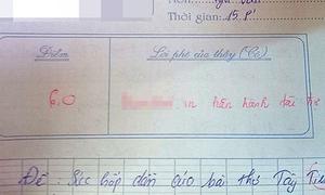 Giáo viên nêu đích danh nhà tài trợ bài văn của học sinh