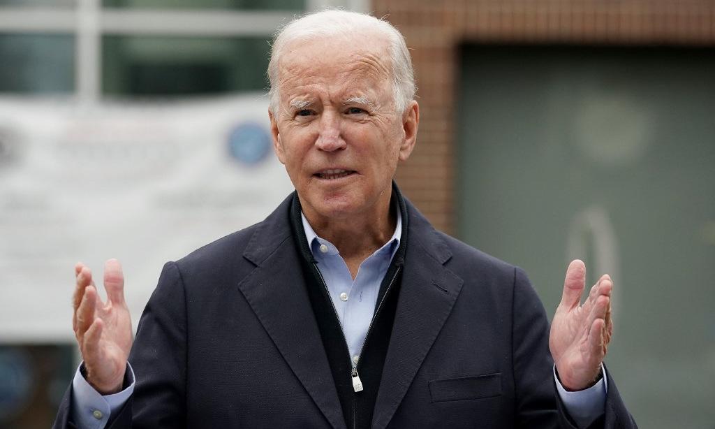 Ứng viên Biden phát biểu với người ủng hộ tại bang Pennsylvania hôm 26/10. Ảnh: AFP.