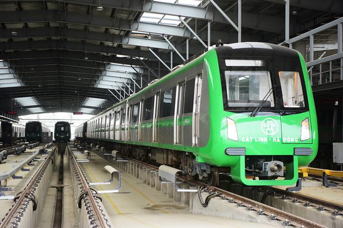 Đường sắt Cát Linh - Hà Đông đã vận hành thử nhà ga từ tháng 3/2019. Ảnh: Giang Huy