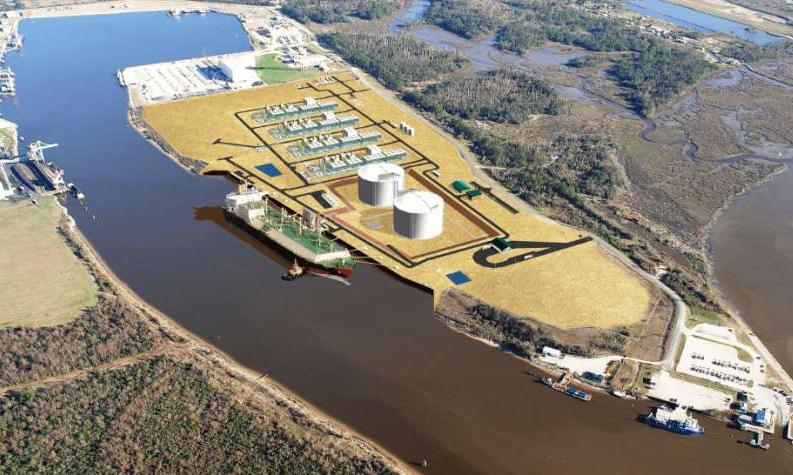 Phác thảo dự án Nhà máy điện LNG Bạc Liêu. Đồ họa: LNG Limited.