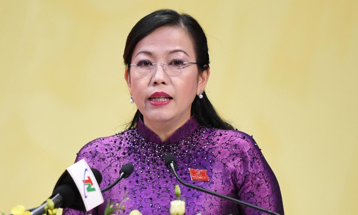 Bà Nguyễn Thanh Hải, Bí thư Tỉnh ủy Thái Nguyên quê Hà Nội, bà là PGS TS Vật lý. Ảnh:Hiếu Duy