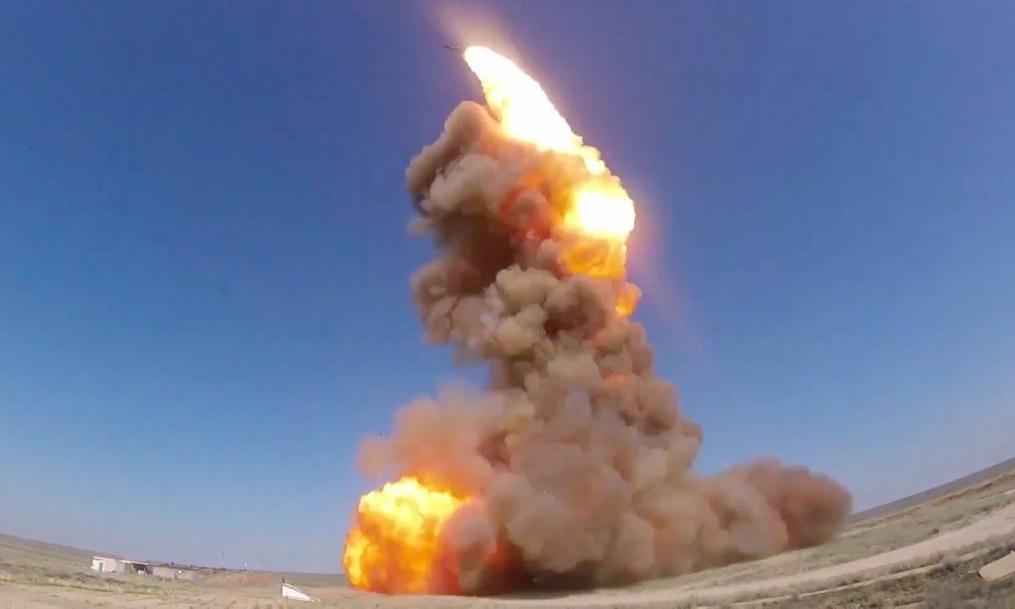 Hệ thống A-135 Nga bắn thử năm 2018. Ảnh: Bộ Quốc phòng Nga.