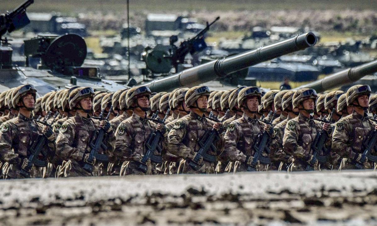 Binh sĩ Trung Quốc tham gia diễn tập năm 2018. Ảnh: AFP.