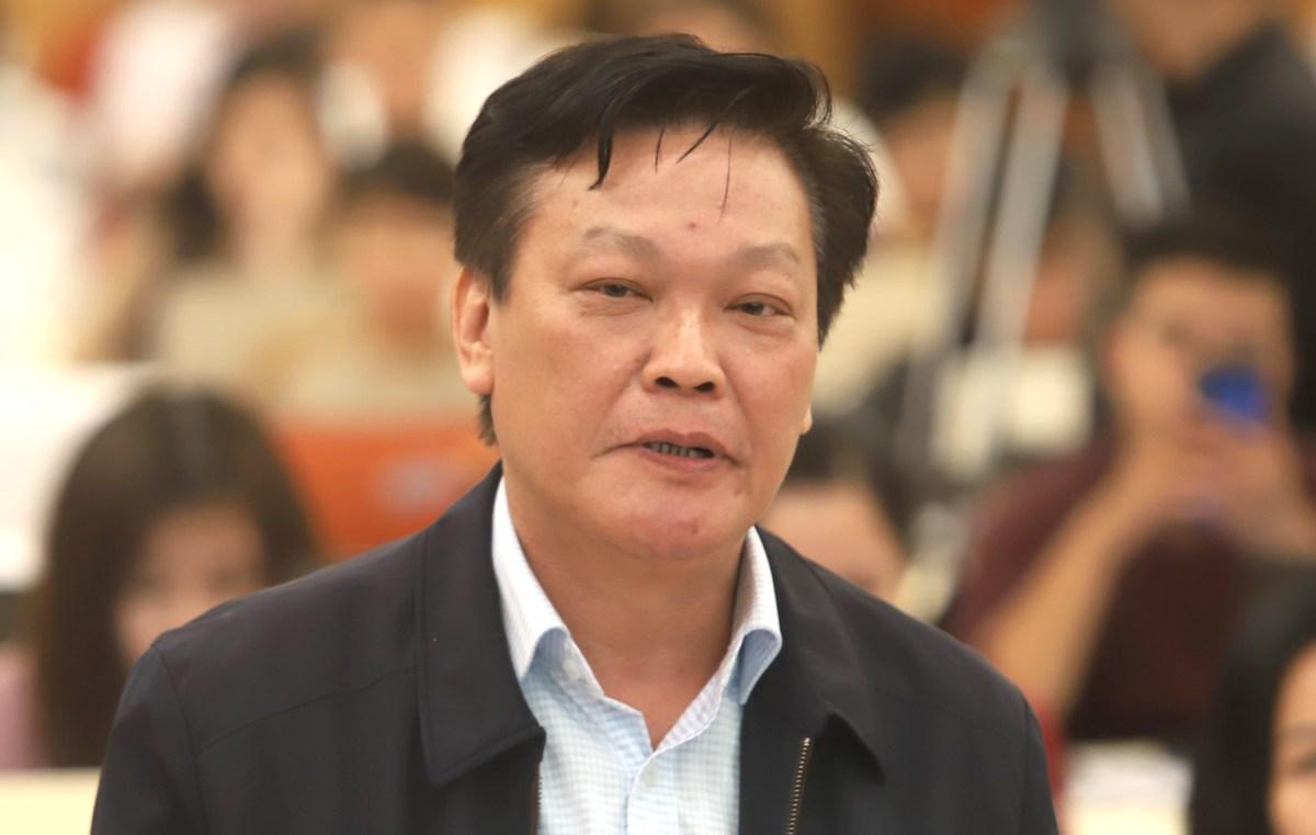 Thứ trưởng Nguyễn Duy Thăng tại buổi họp báo Chính phủ chiều 30/10. Ảnh: TT
