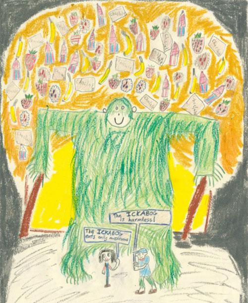 Bức tranh thắng giải vẽ minh họa của Lucy. Ảnh: Scholastic.