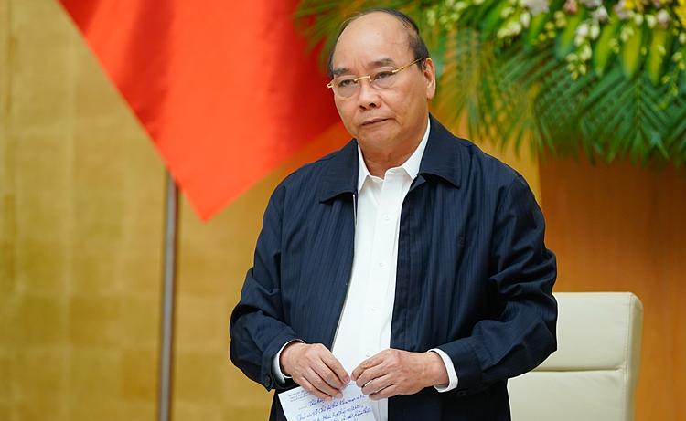 Thủ tướng Nguyễn Xuân Phúc phát biểu mở đầu cuộc họp sáng nay. Ảnh: Quang Hiếu/VGP