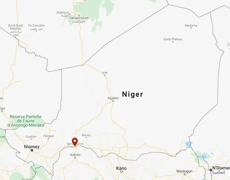 Vị trí làng Massalata nơi vụ bắt cóc xảy ra hôm 27/10. Đồ họa: Google.
