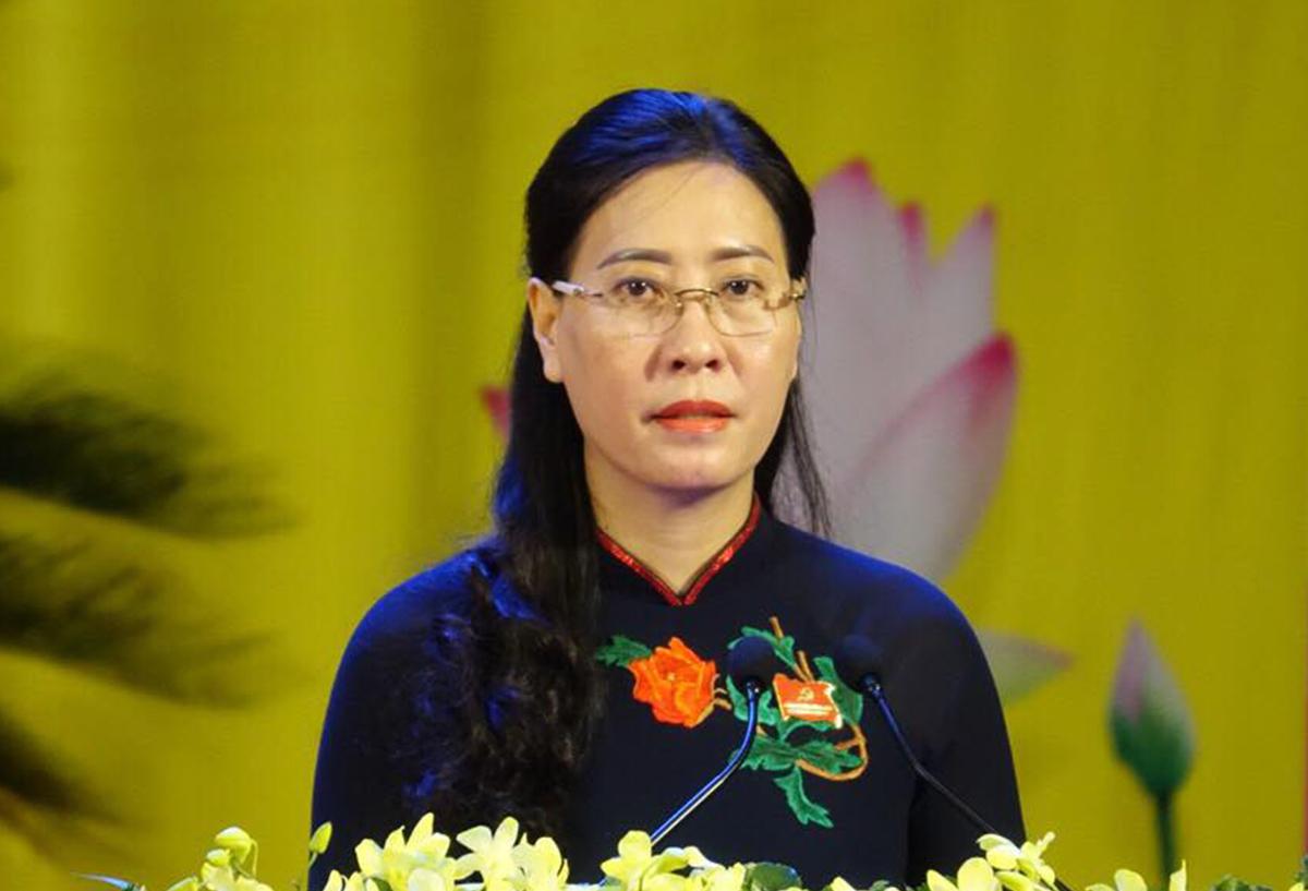 Bà Bùi Thị Quỳnh Vân, Bí thư Tỉnh ủy Quảng Ngãi - nữ Bí thư Tỉnh ủy trẻ nhất nhiệm kỳ 2020-2025. Ảnh: Ngọc Đức.