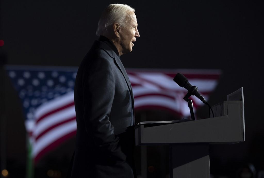 Biden trong cuộc vận động tại bang Michigan hôm 31/10. Ảnh: AFP.