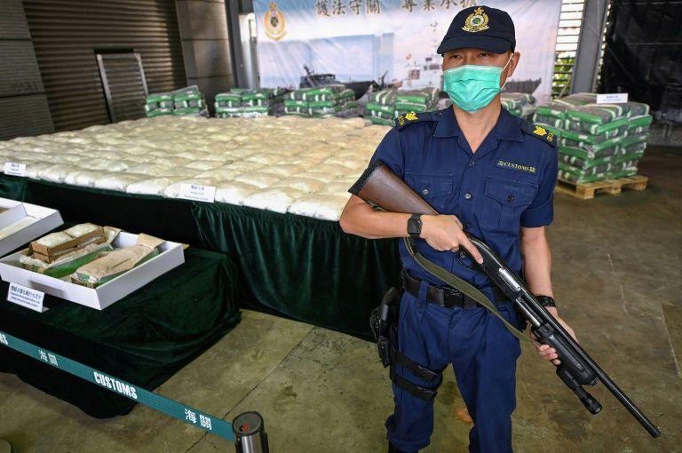 Hơn 500 kg ma tuý đá bị giới chức Hong Kong tịch thu. Ảnh: AFP.