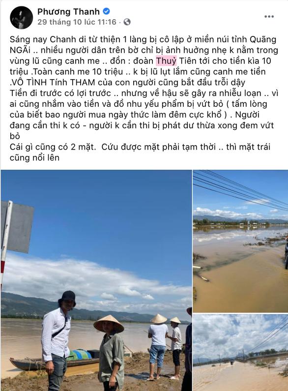 Dòng trạng thái gây tranh cãi của ca sĩ Phương Thanh.