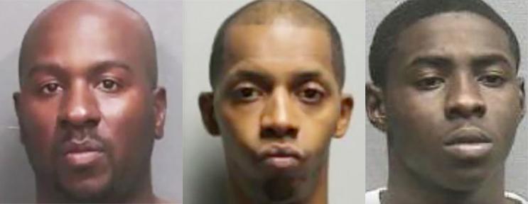 (Từ trái qua) Marc Hill, Nelson Polk, và Trayvees Duncan-Bush. Ảnh: Houston Police Department.