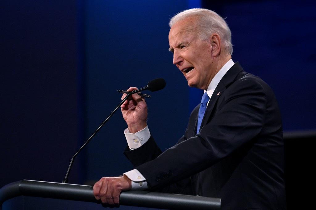 Biden phát biểu trong cuộc tranh luận. Ảnh: AFP.