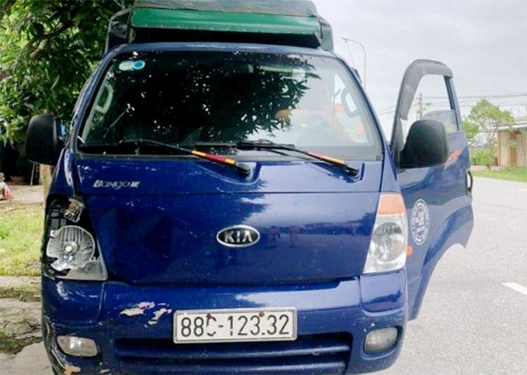 Xe tải do ông Tùng cầm lái gây tai nạn. Ảnh: Hùng Lê