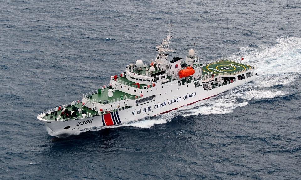 Tàu hải cảnh Trung Quốc trong một chuyến áp sát Senkaku/Điếu Ngư. Ảnh: JCG.